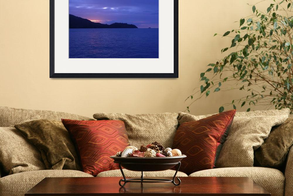 """""""Sunset Seychelles""""  (2007) by MadelineGoulds"""