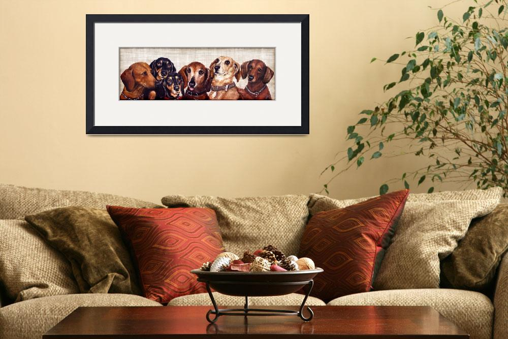 """""""6 Dachshunds&quot  (2009) by stella"""