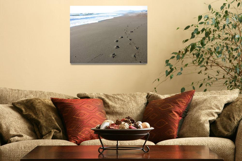 """""""Footprints on Beach&quot  (2007) by luv4pix"""
