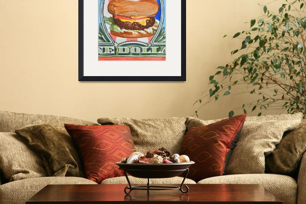 """""""A Patriot Burger&quot  (2011) by claudebuckleyfineart"""