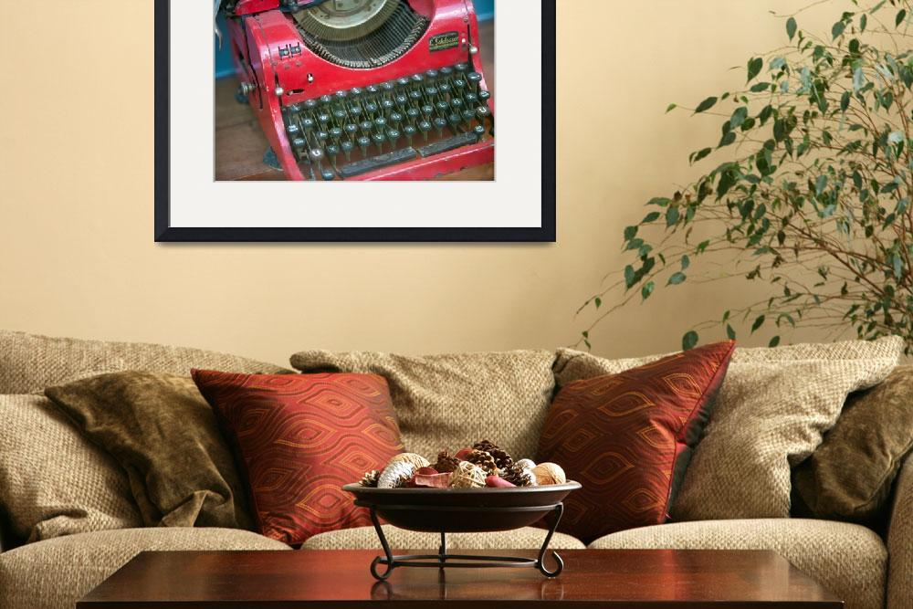 """Red Typewriter&quot  (2002) by midcenturymodern"