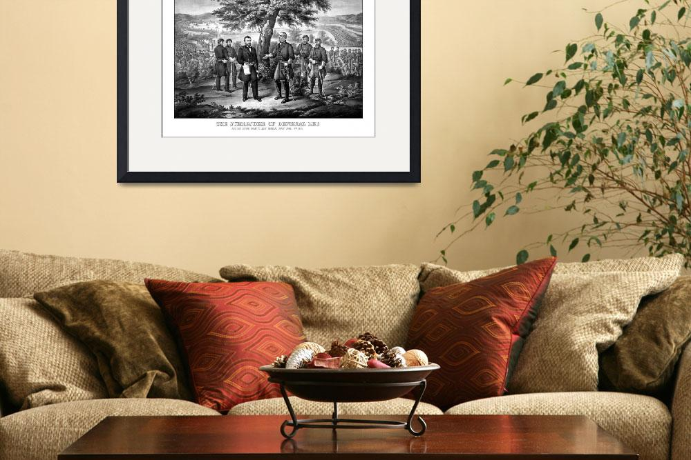 """""""The surrender of General Robert E. Lee to General&quot  by stocktrekimages"""