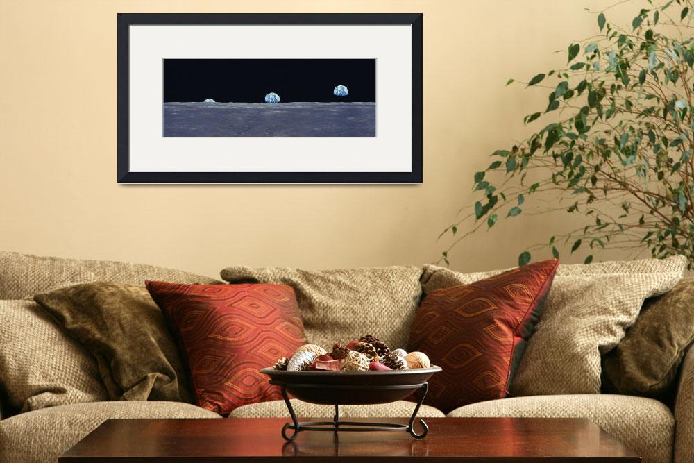 """""""Earth Rise fr Lunar Surface&quot  by Panoramic_Images"""