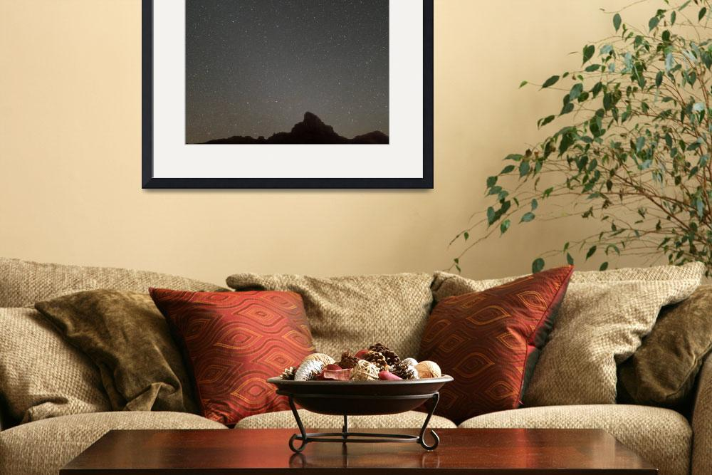"""Mars and Gemini over Picacho Peak""  (2008) by laurielarson"