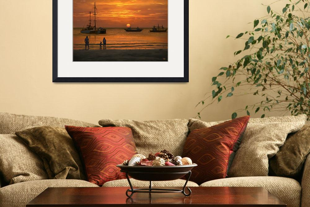 """""""Sunset on the water&quot  (2014) by rob-joseph"""