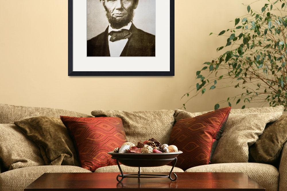 """""""Abraham Lincoln (1809-65) 1863""""  by fineartmasters"""