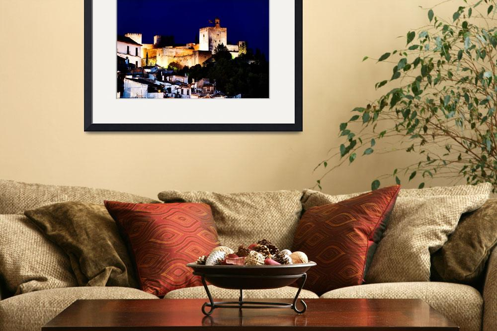 """Alhambra at night&quot  (2012) by blachani"