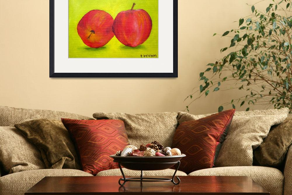 """""""apples&quot  (2011) by traciebrownart"""