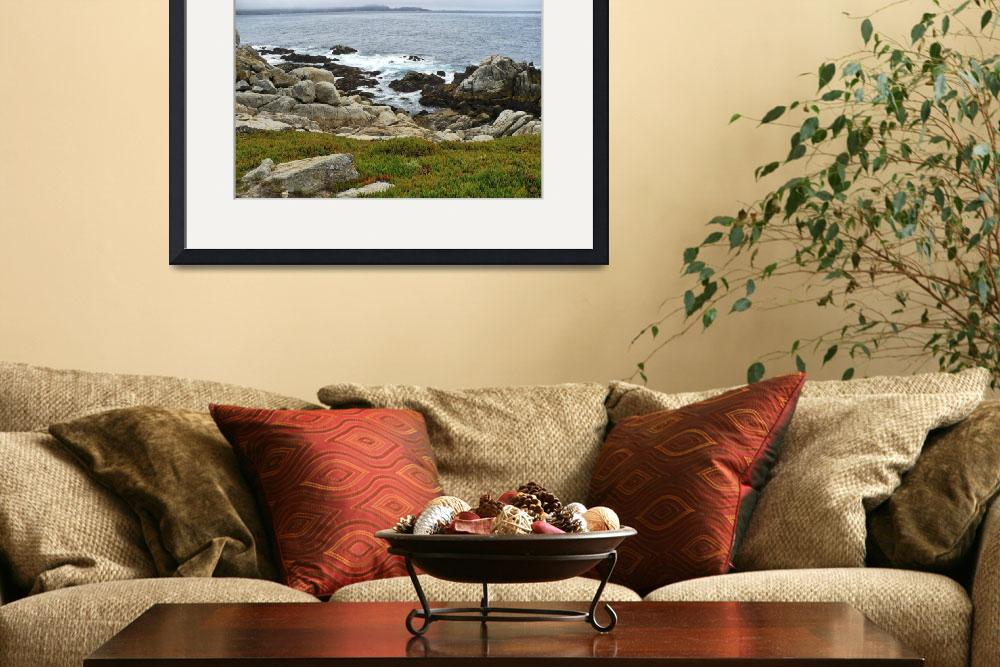 """""""California Coast with Rocks and Ice Plant&quot  by Groecar"""