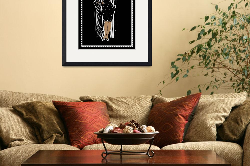 """""""Poster Vintage Glamor Girl Black White with Border&quot  by shanmaree"""