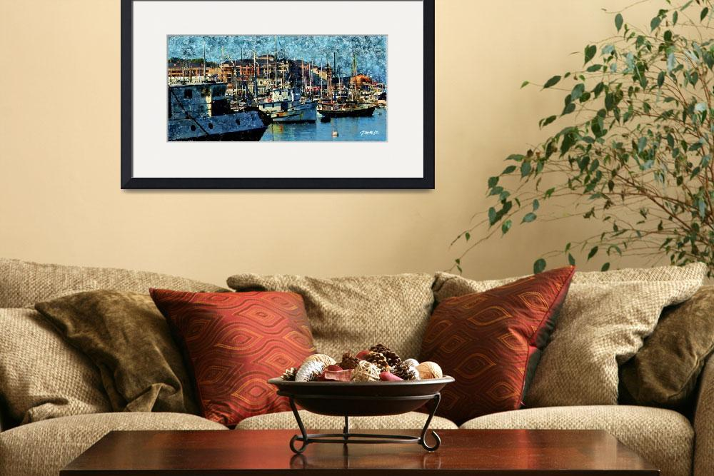 """""""Fishing Boats and Cannery Row, Monterey CA""""  (2012) by JimPavelle"""