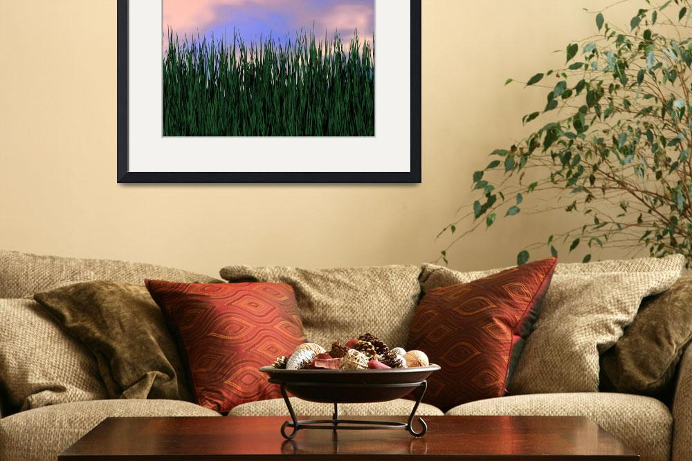 """""""Watercolor Grass&quot  (2013) by lutjo1953"""