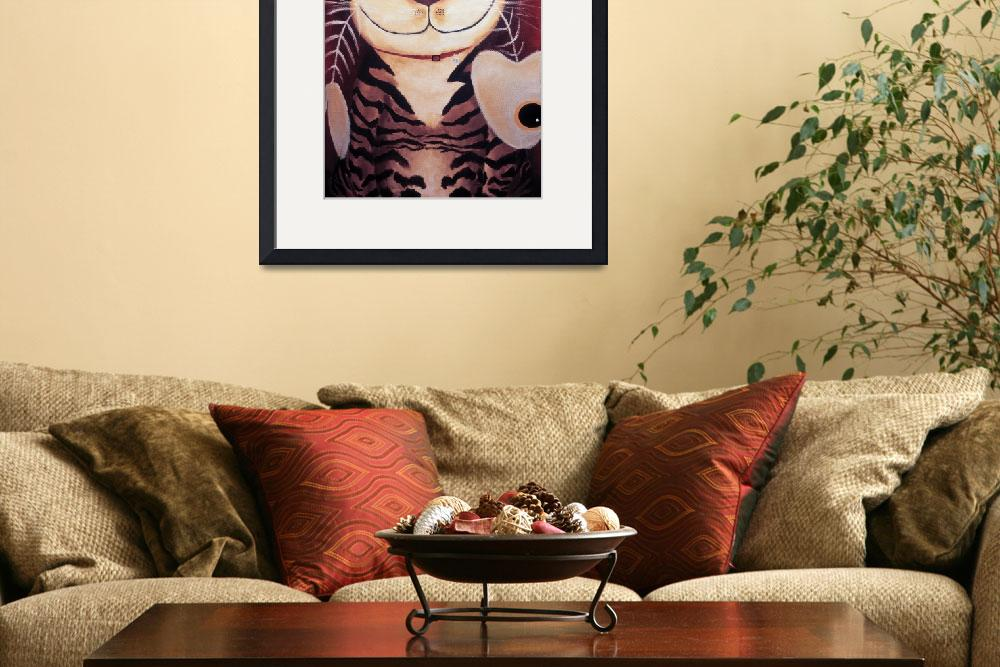 """""""Cat art by catmaSutra - Portrait of a Cat&quot  (2005) by catmasutra"""