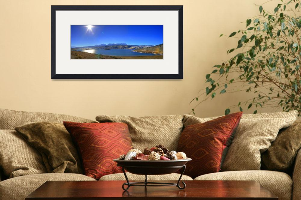 """""""Green Mountain Reservoir Panorama&quot  (2006) by scingram"""