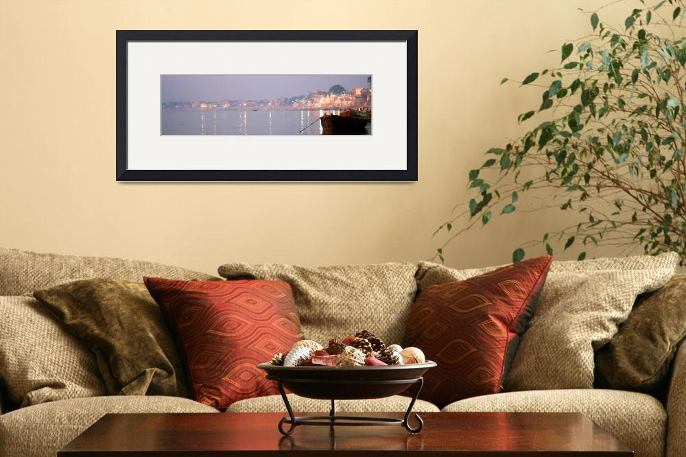 """India Varanasi Panorama""  (2008) by royporat"