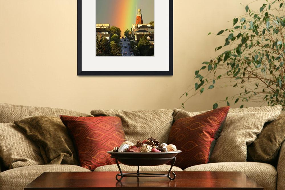 """""""Rainbow over Portland Observatory&quot  (2005) by GordieSea"""