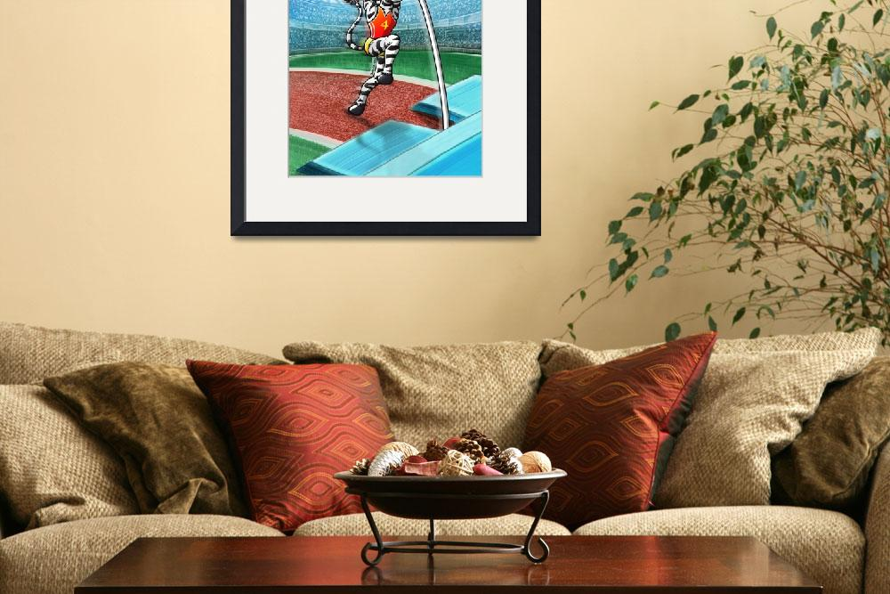 """""""Olympic Pole Vault Zebra&quot  (2012) by Zooco"""
