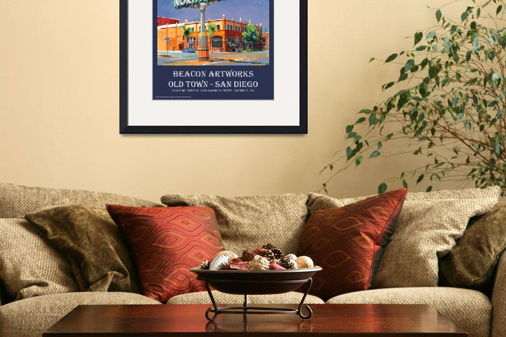 """""""Beacon Artworks North Park Sign San Diego Poster""""  (2008) by RDRiccoboni"""