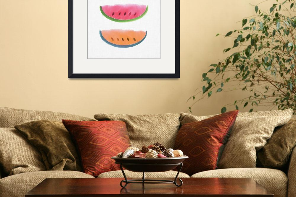 """""""Picnic - Watercolor Watermelons&quot  (2018) by moderntropical"""