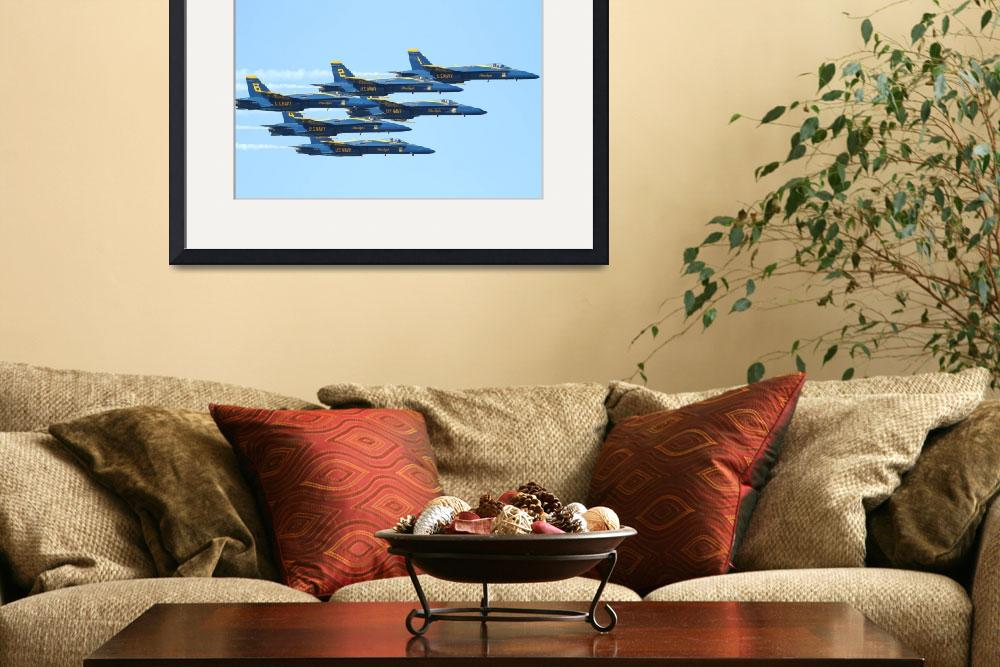 """The Blue Angels Team&quot  (2010) by wingsdomain"