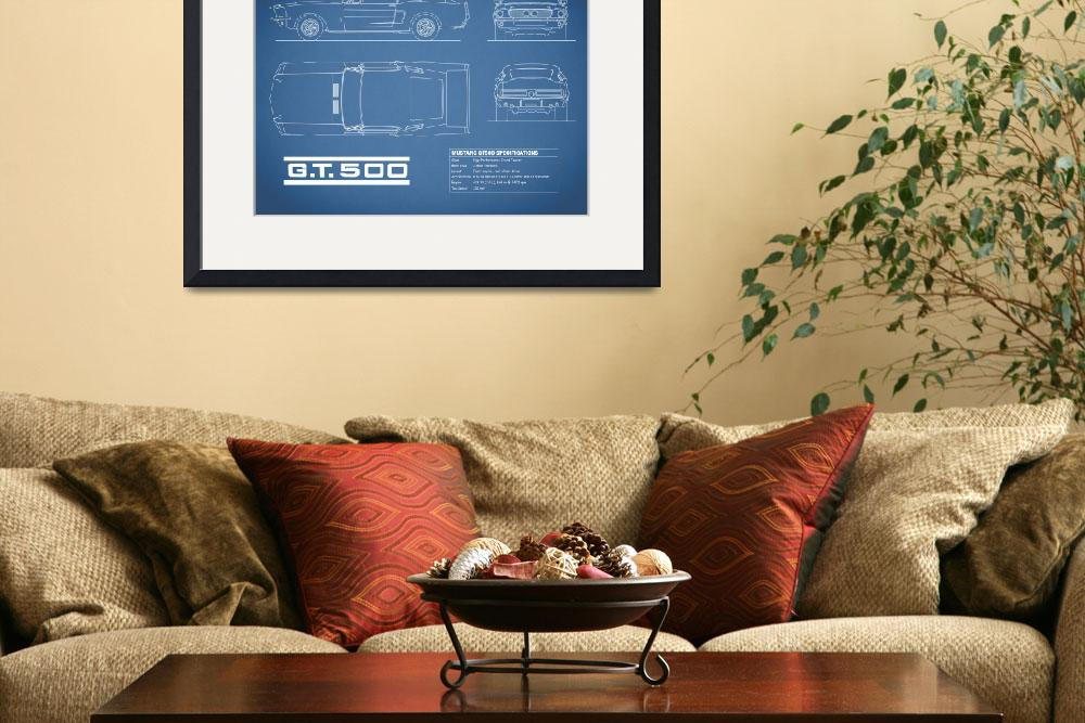 """""""Shelby Mustang GT500 Blueprint&quot  (2015) by mark-rogan"""