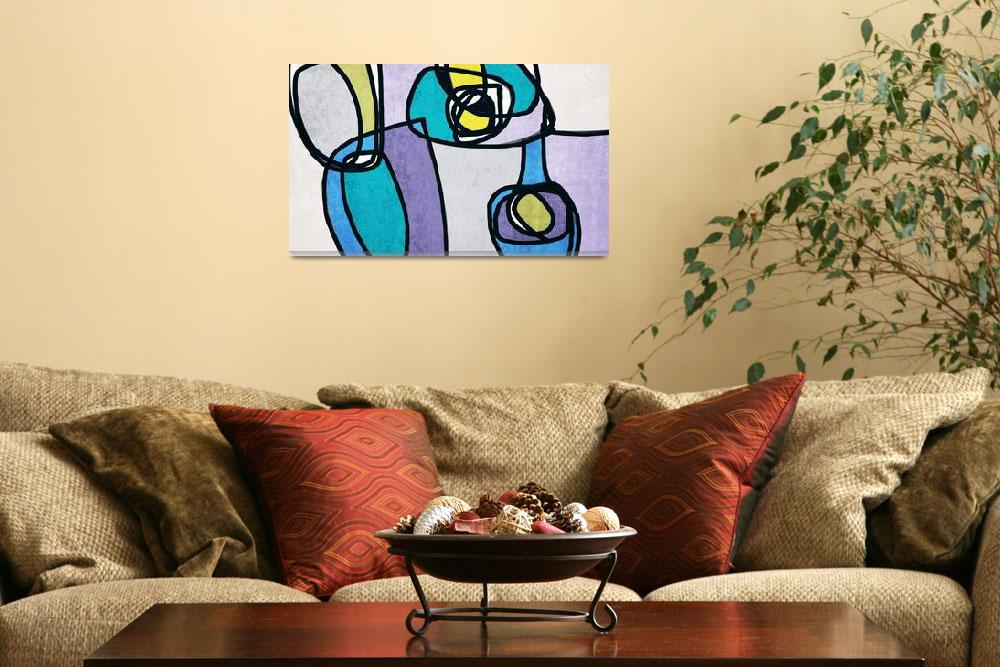 """""""ORL-6831-2 Vibrant Colorful Abstract-0-5-4&quot  by Aneri"""
