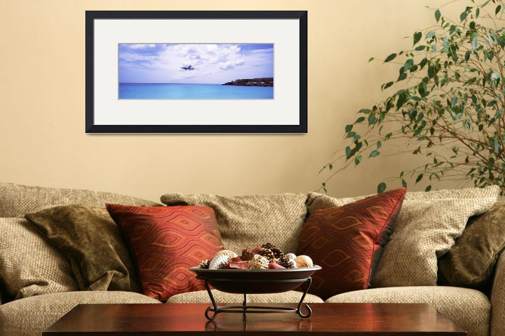 """""""Airplane flying over the sea&quot  by Panoramic_Images"""