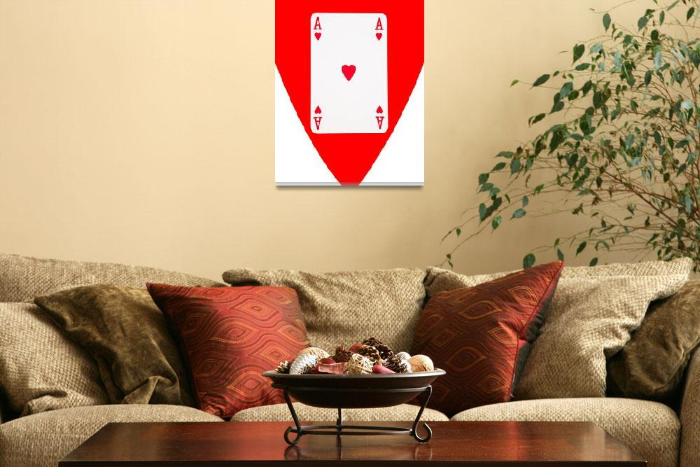 """""""Playing Cards Ace of Hearts on White Background&quot  by NatalieKinnear"""