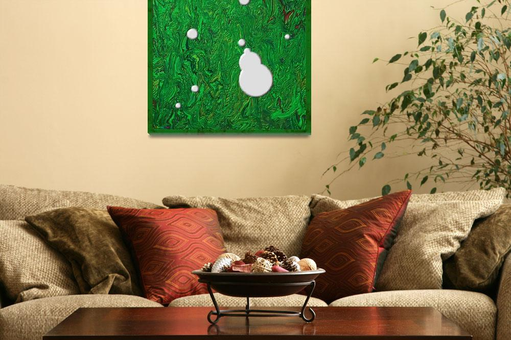 """""""20110204-White-Paint-Splatters-on-Green-v005a&quot  (2011) by quasihedron"""
