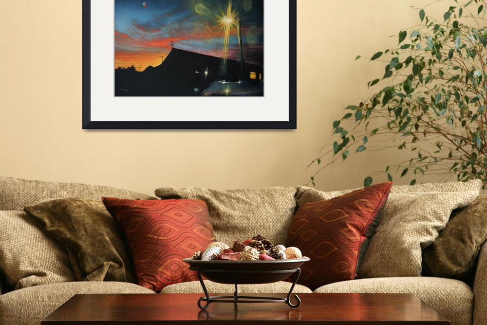 """""""Suburban Sunset Oil on Canvas&quot  (2013) by daverives"""