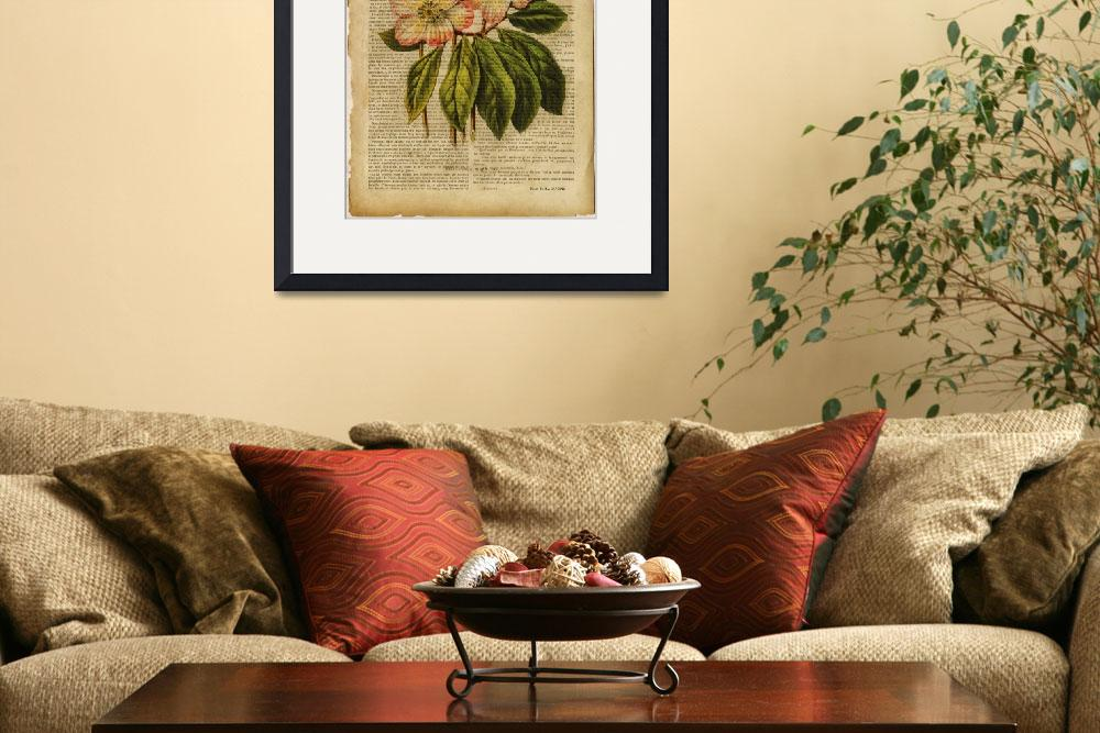 """""""dog rose vintage print&quot  by Art_by_Lilia"""