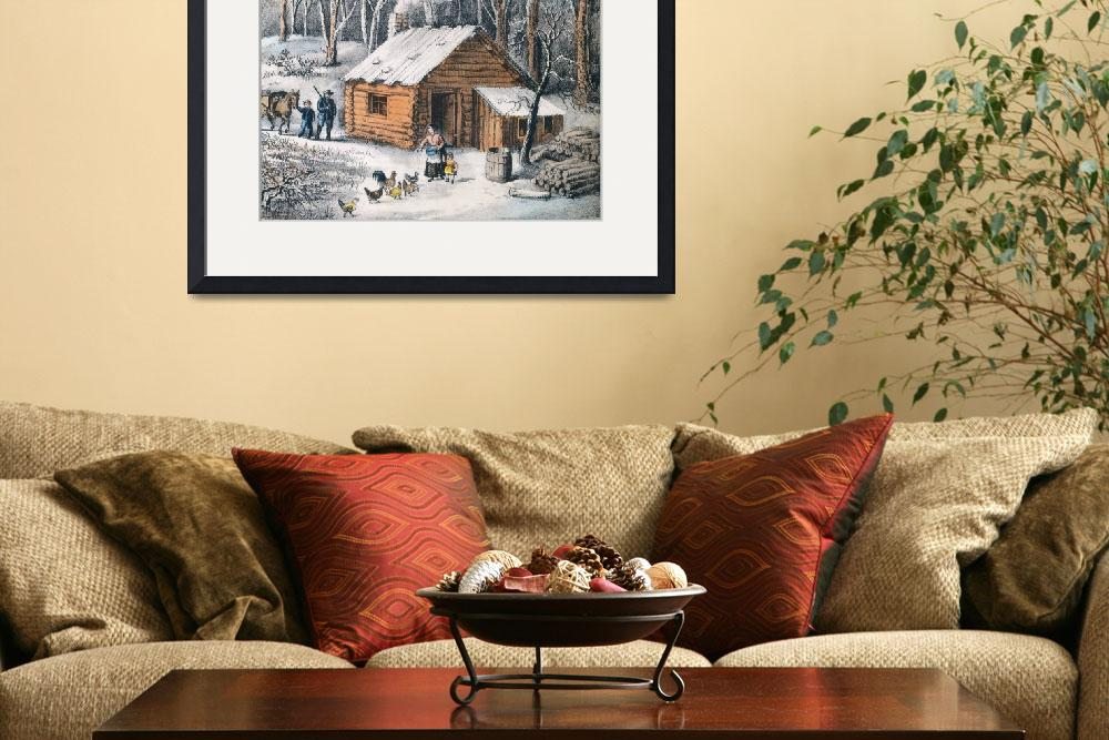 """""""Vintage Home in The Wilderness Painting (1870)""""  by Alleycatshirts"""
