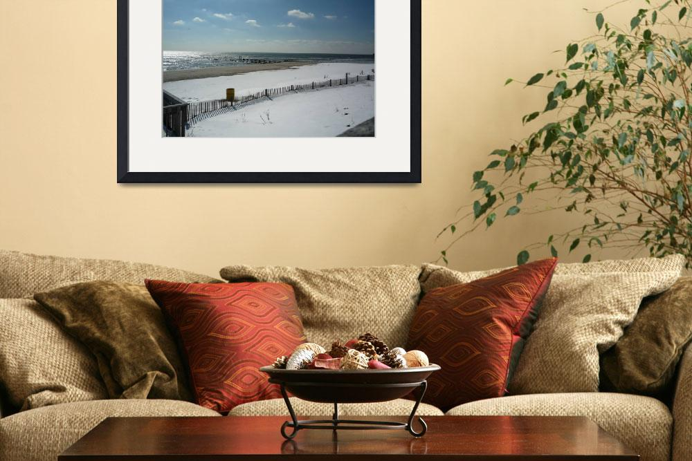 """""""Snow covered beach the Jersey Shore&quot  by tom-macpherson"""