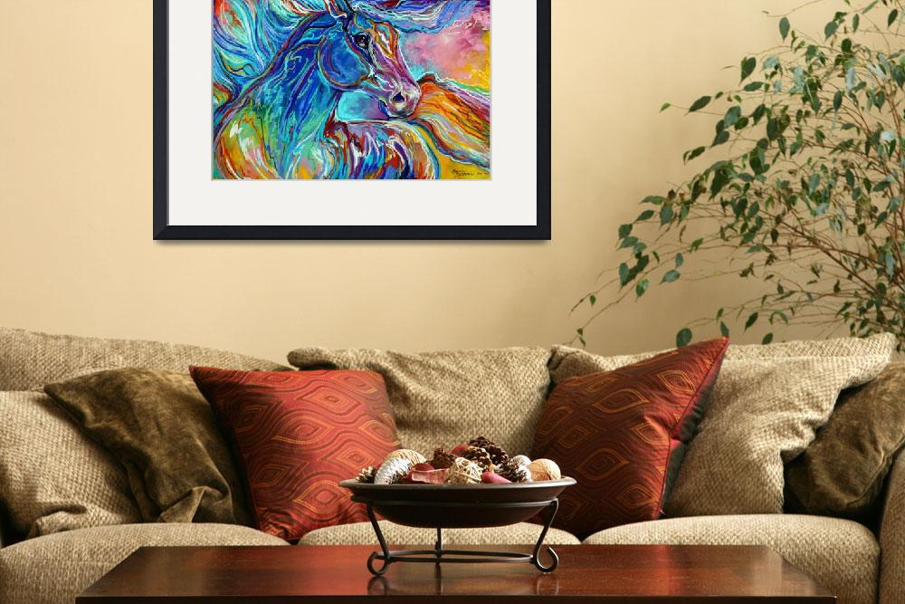 """""""PAINTED PONY ABSTRACT in PASTELS&quot  (2011) by MBaldwinFineArt2006"""