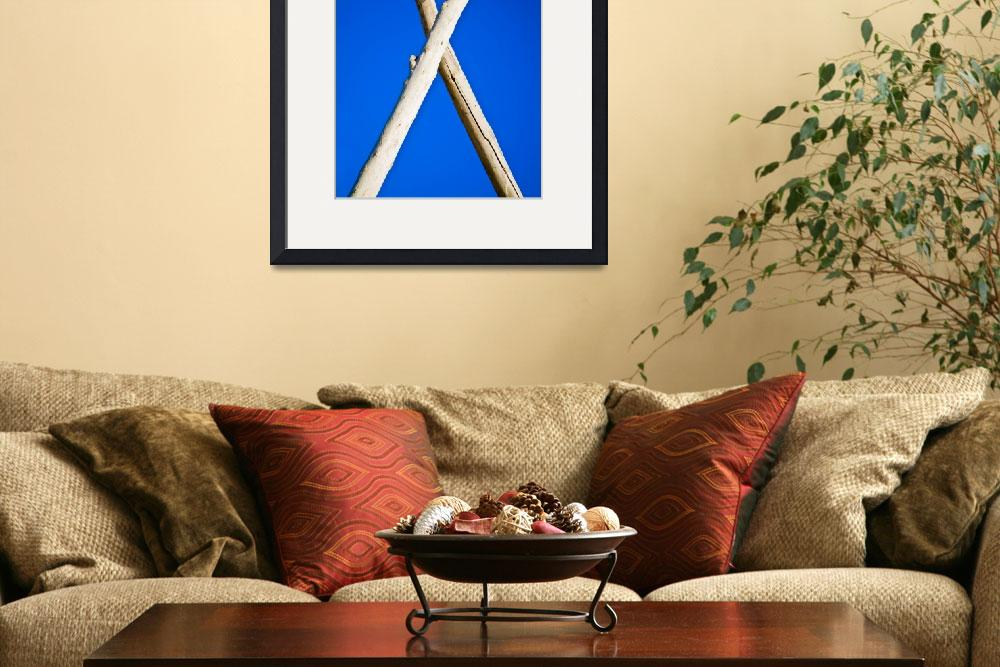 """""""Cross of the logs on blue sky background&quot  by RomanPopov"""