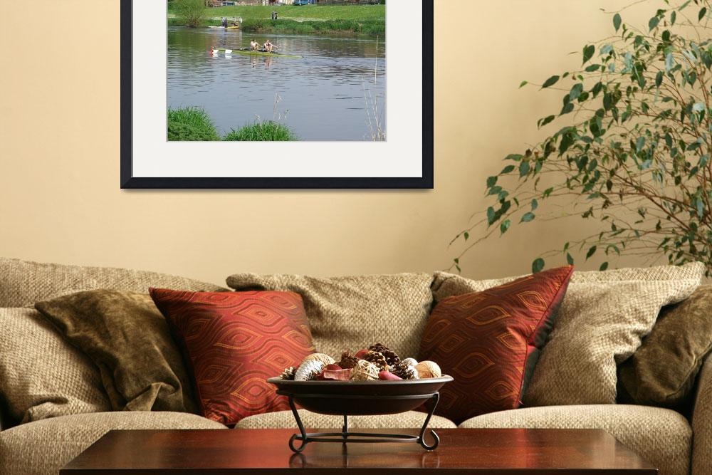 """Sculling  On The River Trent  (15795-RDA)""  (2008) by rodjohnson"