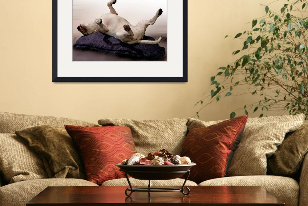 """Engish Bull Terrier, Watercolor Style Print&quot  (2008) by ModernArtPrints"