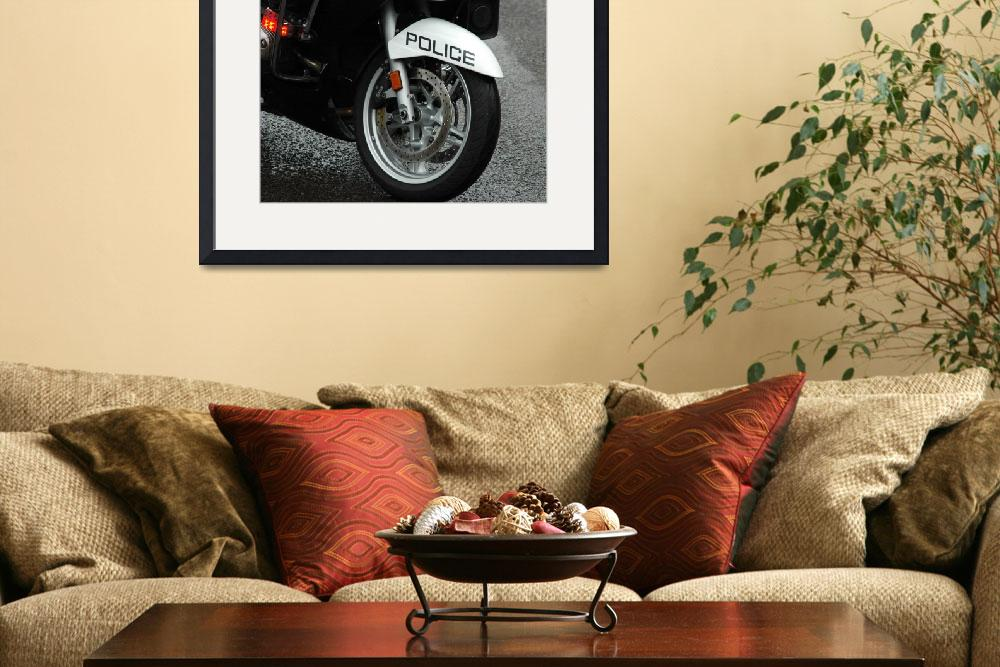 """""""Police Motorcycle Tire&quot  (2011) by netbrands"""
