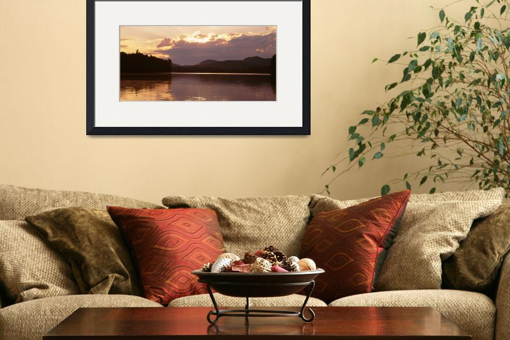 """""""Sunset Rollins Pond Adirondack Mountains NY&quot  by Panoramic_Images"""