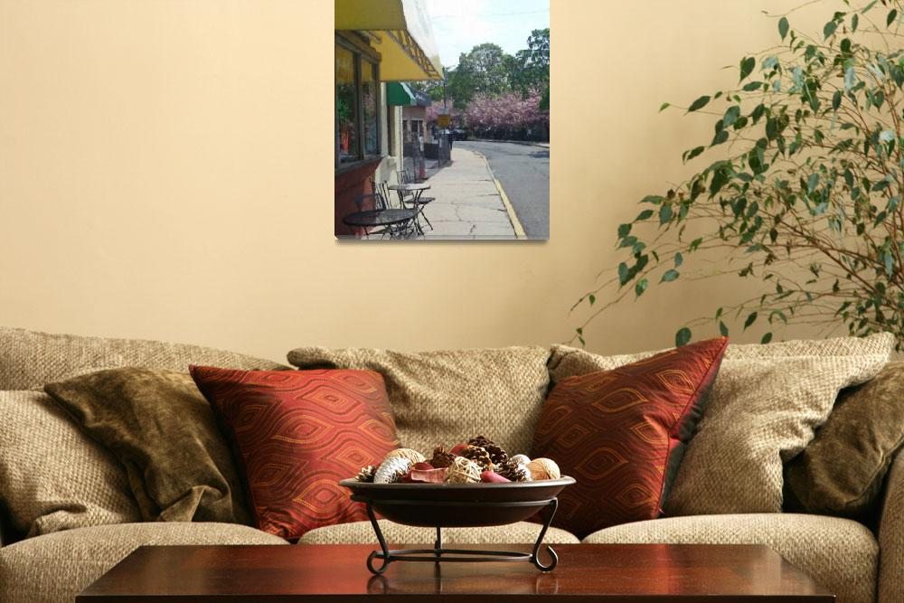 """""""Walk by Cafe&quot  (2010) by pharrisart"""