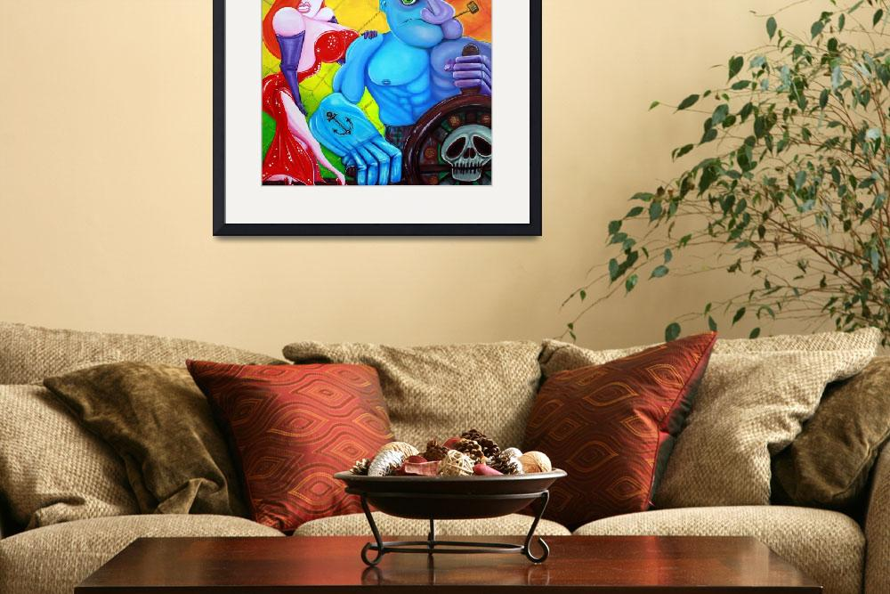 """""""Popeye and Jessica Rabbit&quot  (2013) by ArtPrints"""