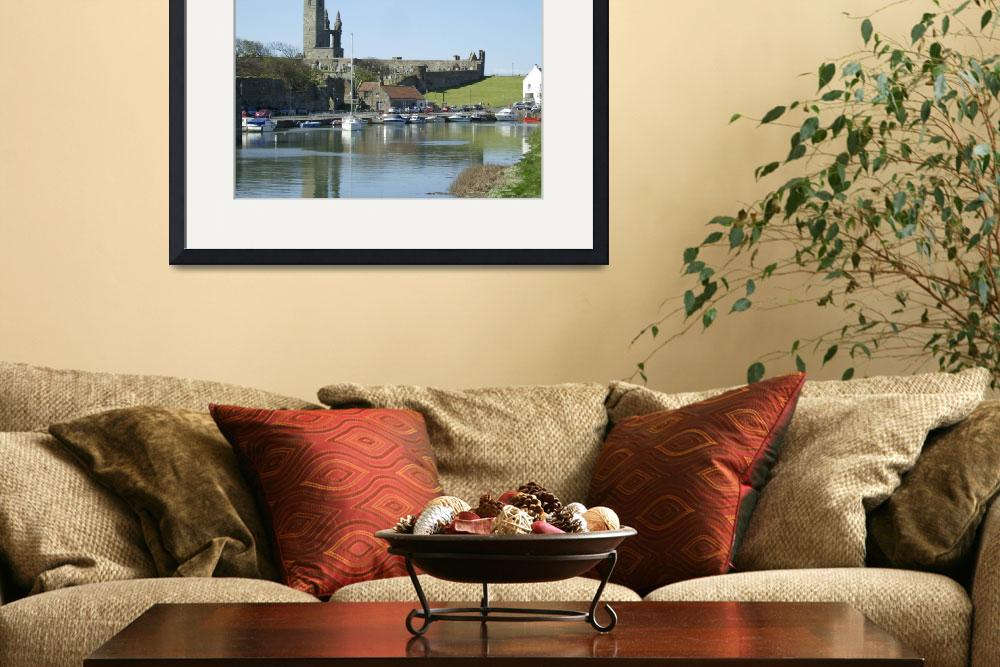 """St Andrews Harbour and Cathedral&quot  (2013) by AdrianWale"
