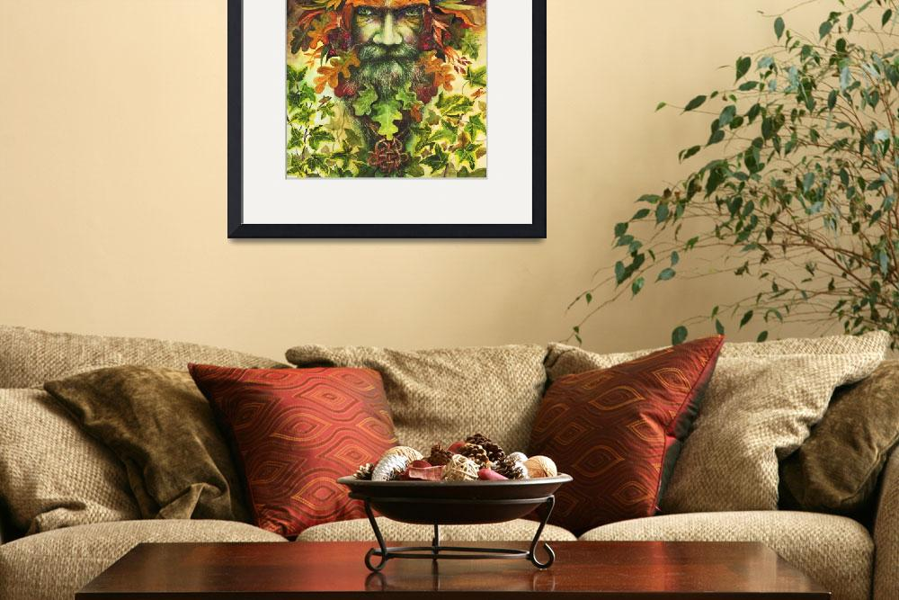 """The Green Man&quot  (2018) by MightyFineArt"