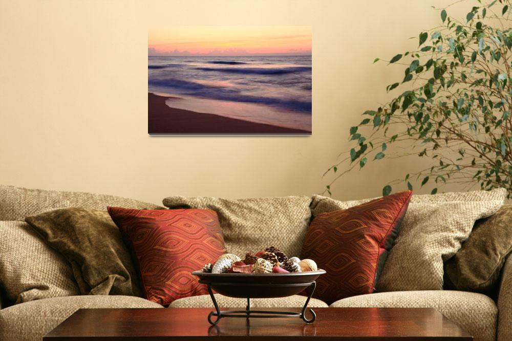 """""""Outer Banks Dawn Seascape&quot  (2014) by RoupenBaker"""