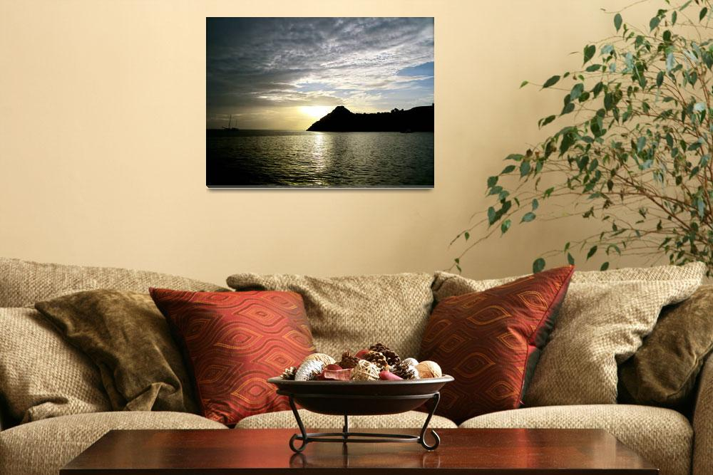 """Dusk in St. Lucia""  (2012) by BMoorePhotography"