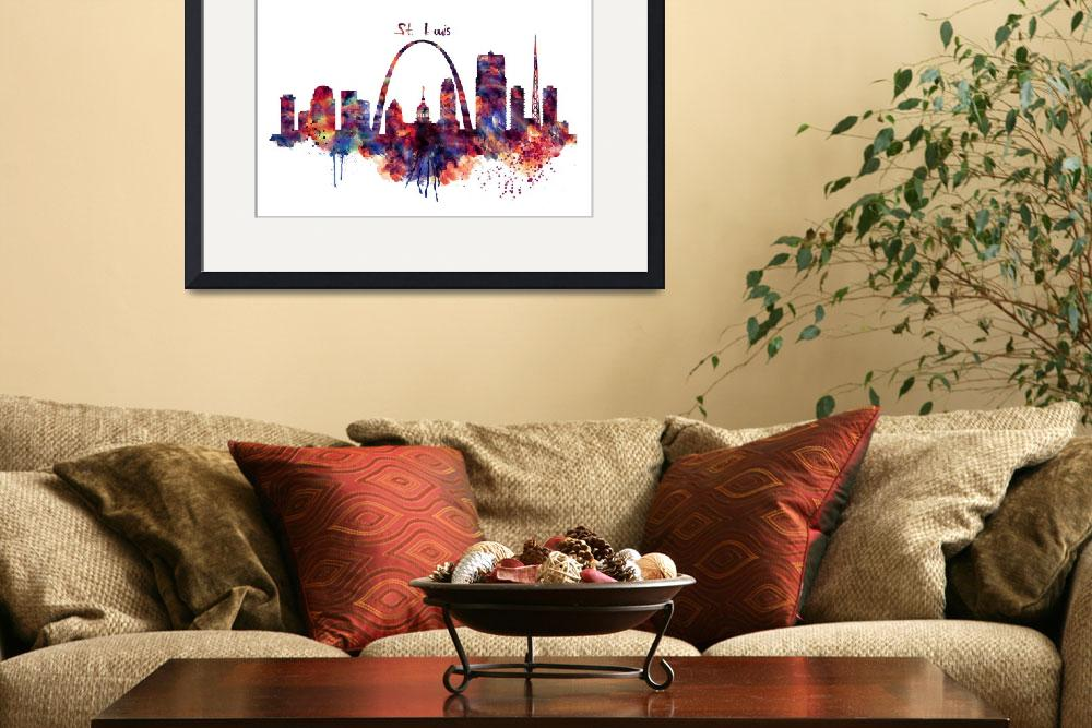 """St Louis Skyline&quot  (2016) by MarianVoicu"