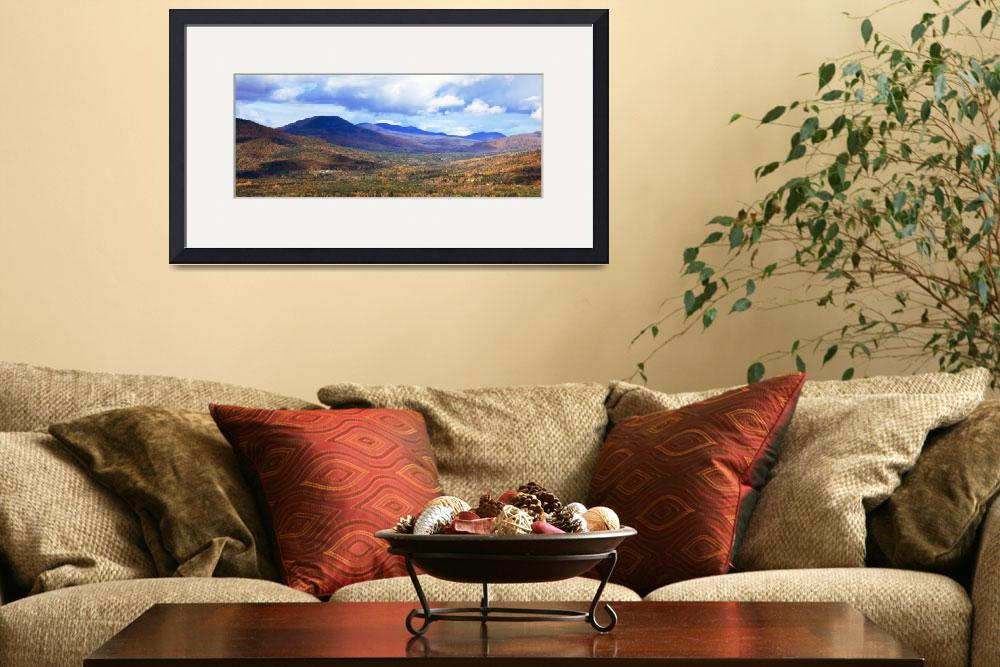 """""""White Mountains panoramic vista, New Hampshire""""  (2011) by RoupenBaker"""