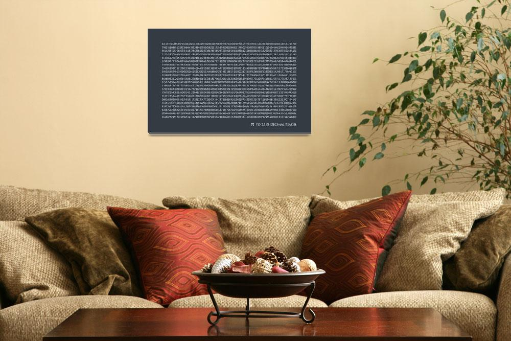 """Pi to 2198 decimal places&quot  (2011) by ModernArtPrints"