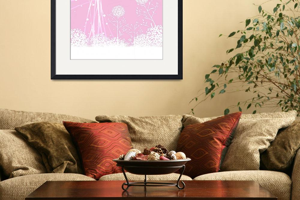 """""""pink and white Abstract Flowers""""  (2014) by peggygarr"""