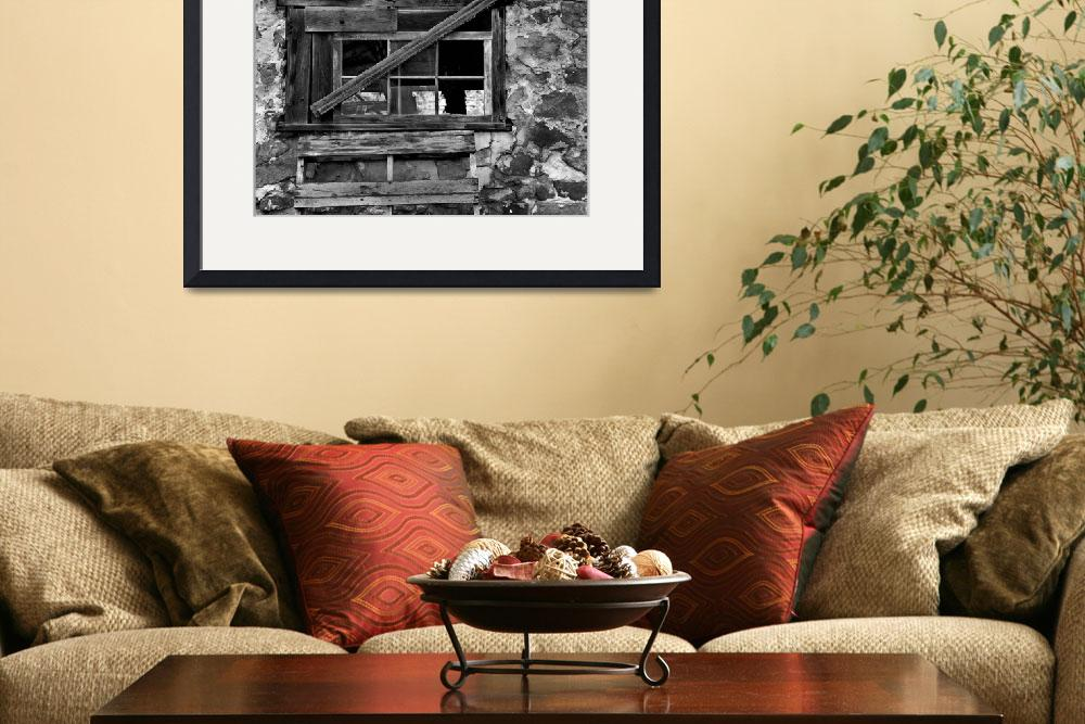"""""""Old Barn Window&quot  (2011) by PerryWebster"""